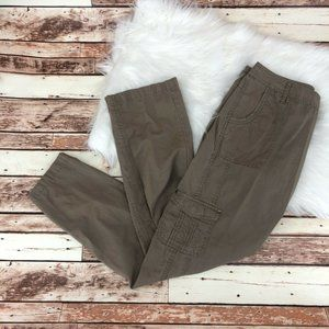 Ascend Straight Leg Cargo Pants Sz 10 Brown Cotton